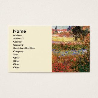 Blühender Garten Van Gogh, Vintage feine mit Visitenkarte