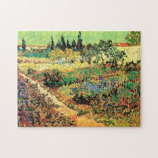 Blühender Garten-Weg Van Gogh, Vintage feine Kunst Puzzle