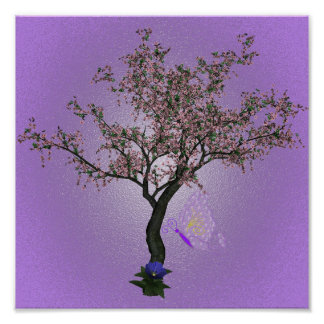 Blühender Kirschbaum Poster