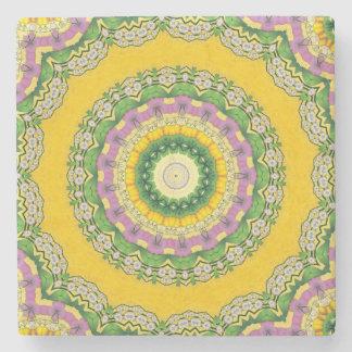 Blühender Mandala MarmorsteinUntersetzer Steinuntersetzer