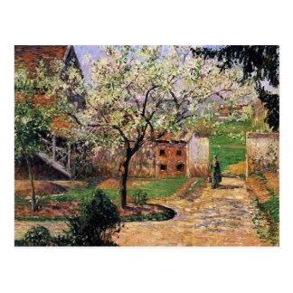 Blühender Pflaumen-Baum Camilles Pissarro-, Eragny Postkarte