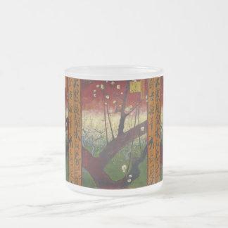 Blühender Pflaumen-Baum Van Gogh Mattglastasse