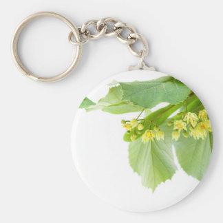 Blühender Zweig von limetree oder von Lindenbaum Schlüsselanhänger