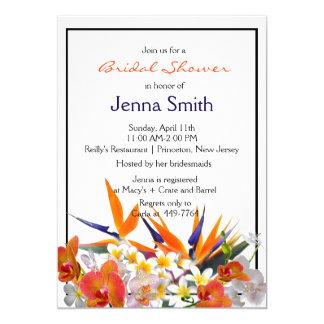 Blühendes Freude-Tropisches Blumen-Brautparty 12,7 X 17,8 Cm Einladungskarte