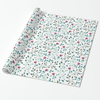 Blühendes Rosewatercolor-Muster Geschenkpapier