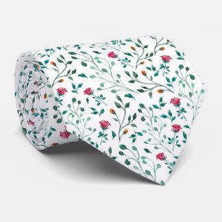 Blühendes Rosewatercolor-Muster Individuelle Krawatten