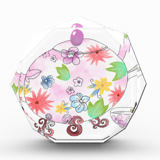 Blühendes Tee-Topf-Illustrations-Zeichnen Auszeichnung