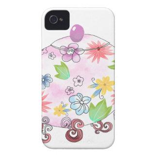 Blühendes Tee-Topf-Illustrations-Zeichnen Case-Mate iPhone 4 Hülle