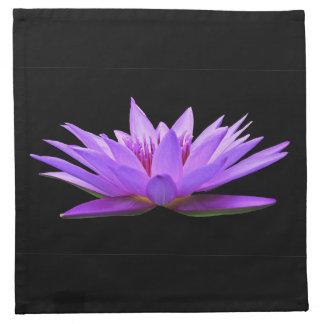 Blume auf Schwarzem Serviette