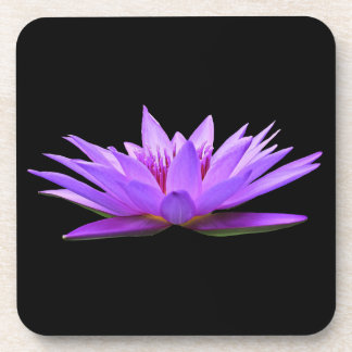 Blume auf Schwarzem Untersetzer