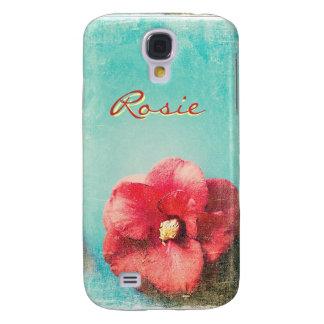 Blume auf Türkishintergrund Samsungs-Galaxie S4 Galaxy S4 Hülle