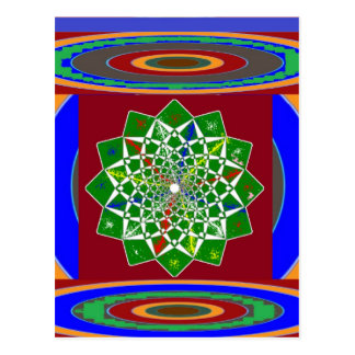 BLUME CHAKRA Rad-Energie: Smaragdgrün Postkarte