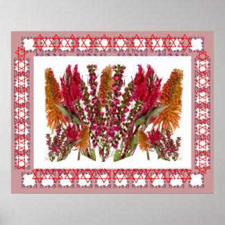 BLUME Dekorationen: Boronia Lippenstift-Poker-Fack Plakatdruck
