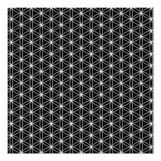 Blume der Leben-heiligen Geometrie Poster