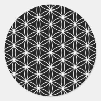 Blume der Leben-heiligen Geometrie Runder Aufkleber
