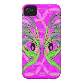 Blume der Leben-Schmetterlings-Verbindung iPhone 4 Cover