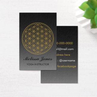 Blume der Leben Symbol-Yoga-Geschäfts-Karte Visitenkarte