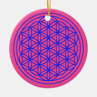 Blume der Lebenmandala-Magenta-Verzierung Keramik Ornament