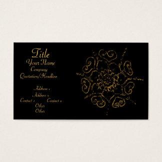 Blume der Liebe (Hennastrauch) (golden) Visitenkarten