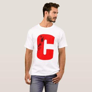 Blume des Buchstabe-C T-Shirt