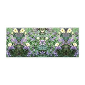 Blume des Foto-771 Dapple Spiegel-Platte Leinwanddruck