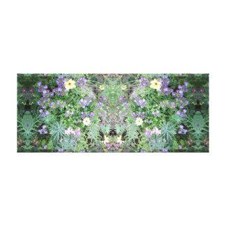 Blume des Foto-772 Dapple Spiegel-Platte Leinwanddruck