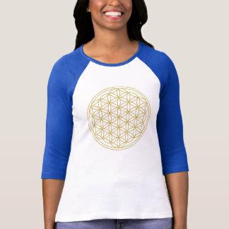Blume des Leben-Goldes T-Shirt