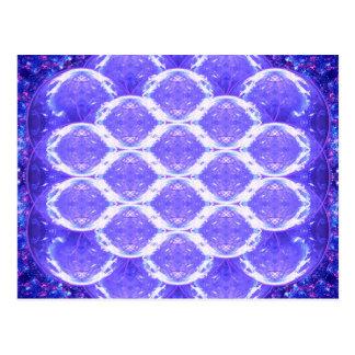 Blume des Leben-Kristall-Gitters Postkarte