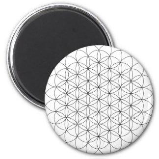 Blume des Leben-Magneten Runder Magnet 5,7 Cm