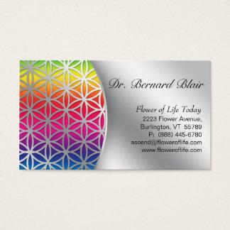 Blume des Leben-Natur-Geschäfts-Karten-Silbers Visitenkarten