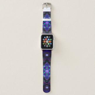 Blume des Lebenmandala-Apple-Uhr-Handgelenk-Bandes Apple Watch Armband