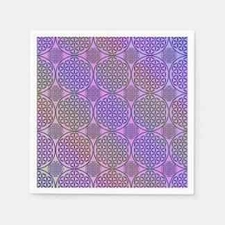 Blume des Lebens - Briefmarke Grungemuster 3 Papierserviette