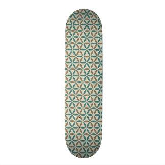 Blume des Lebens - Briefmarkenmuster - BG 1 20,1 Cm Skateboard Deck