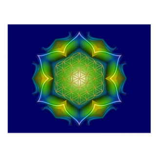 BLUME DES LEBENS/des Blume DES Lebens - Mandala V Postkarte