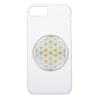 BLUME DES LEBENS/des Blume DES Lebens - zweifarbig iPhone 8/7 Hülle