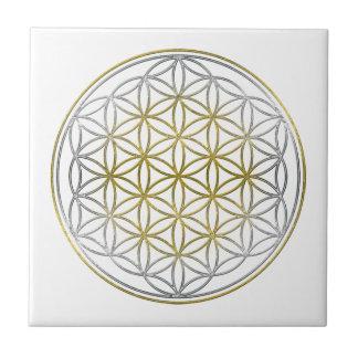 BLUME DES LEBENS/des Blume DES Lebens - zweifarbig Kleine Quadratische Fliese