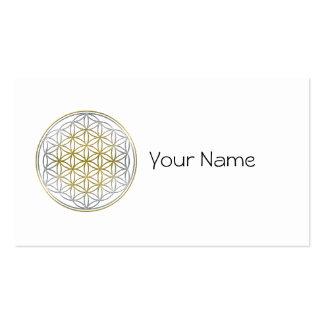 BLUME DES LEBENS/des Blume DES Lebens - zweifarbig Visitenkarten