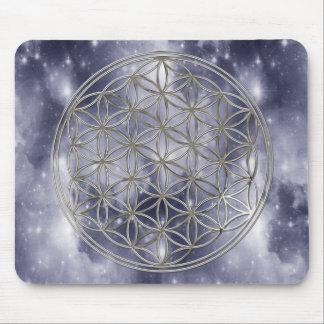 Blume des Lebens / Flower Of Life | silver heaven Mousepad