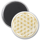 BLUME DES LEBENS - Gold Runder Magnet 5,1 Cm