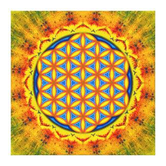 Blume des Lebens - Herbstsonne Gespannte Galeriedrucke