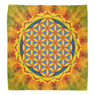 Blume des Lebens - Herbstsonne Halstücher