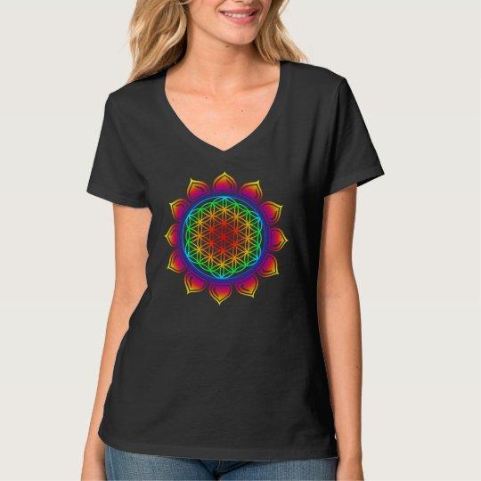 Blume des Lebens / Lotus / Herz Chakra T-Shirt