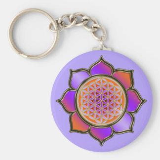 Blume des Lebens Lotus - violet orange / violet Schlüsselbänder