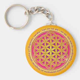 Blume Des Lebens mit Moola-Mantra Schlüsselanhänger