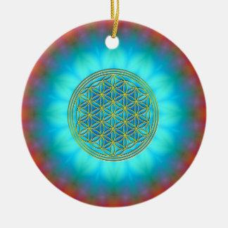 Blume des Lebens Motiv 11 Rundes Keramik Ornament