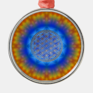 Blume des Lebens Motiv 14 Silbernes Ornament
