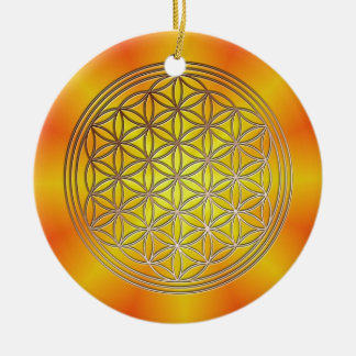 Blume des Lebens Motiv 5 Keramik Ornament