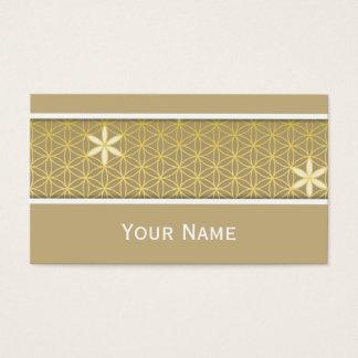 Blume des Lebens - nahtloses Muster - golden Visitenkarte