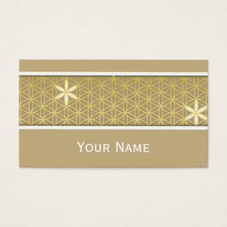 Blume des Lebens - nahtloses Muster - golden Visitenkarten