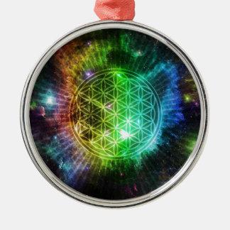 Blume des Lebens Silbernes Ornament